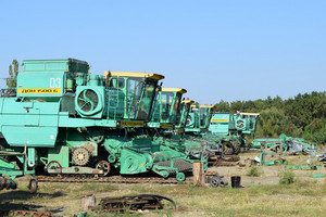 Combine harvester. agricultural machinery for harvesting from the fields.