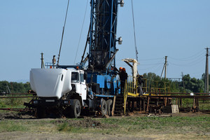 Carrying out repair of an oil well. equipment of oil fields.