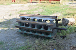 Threshing shearer drum. internal parts. parking farm equipment and accessories.