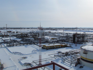 Oil field. the equipment of crafts in western siberia