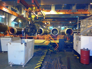 Hold the lay barge. shop for welding inside the lay barge.