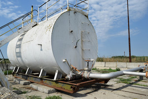 Barrel of oil separation. the equipment in the oil fields. pipes