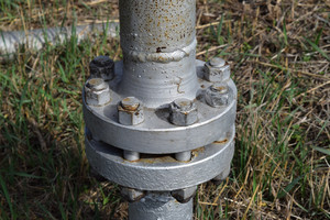 Piping flange - many uses in the oil and gas industry.