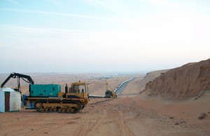 Equipment for construction of the oil pipeline. preparation for construction and laying of pipelines.
