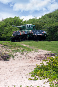 Flamenco Beach Army Tank