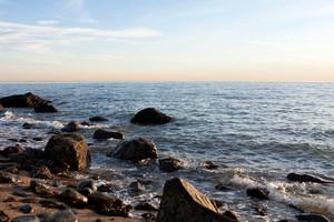 Rocky Hammonasset Beach Scene