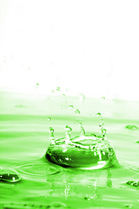 Green Water Splash