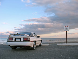 White Sportscar