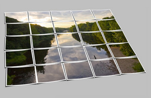 Sunset River Collage