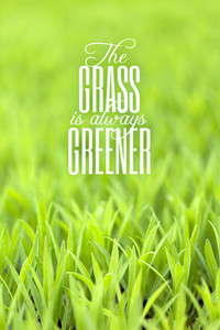 Grass is Always Greener Quote