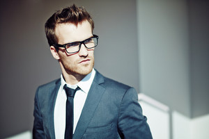 Confident Young Businessman In Eyeglasses And Formalwear