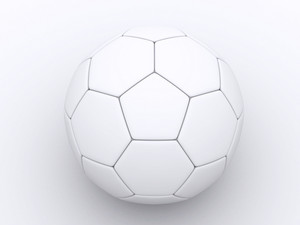 A 3d White Soccer Ball