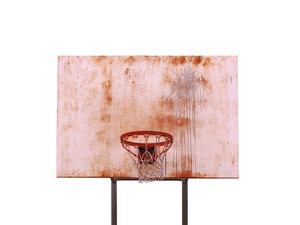 A basketball hoop isolated over white - includes clipping path.