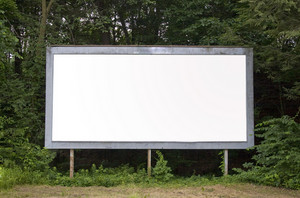 A blank billboard find in a suburban area with plenty of copy space. Includes the clipping path.