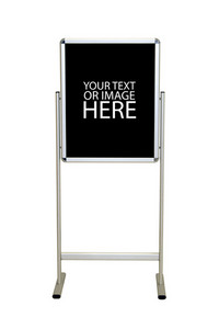 A blank easel stand sign.  Customize this with your message - includes clipping path.