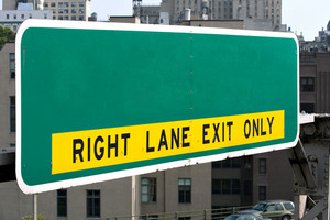 A blank highway sign you can customize with your own text or message. Works great for conceptual themes.