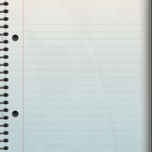 A blank notepad background - great backdrop to let your creativity loose on.