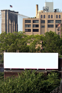 A blank urban advertising billboard with copy space ready for your design or concept. Great for real world design proofing or mock ups.