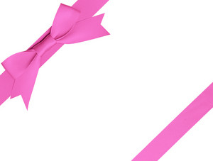 A Bow For A Birthday Gift With Clipping Path