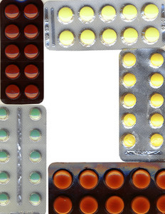 A Frame Made Of Different Pills