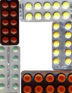 A Frame Made Of Different Pills