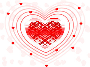 A Fusion Of Decorative Heart Shape .vector Illustration.