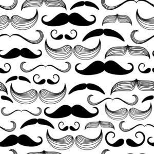 A Gentlemen's Club. Mustache Seamless Pattern