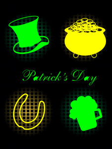 A Glowing Elements For Patrick's Day.