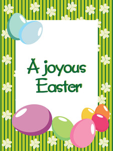 A Joyous Easter Day Background