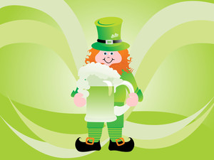 A Leprechaun Protecting His Pot Of Gold