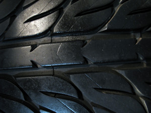 a macro shot of some custom tire tread