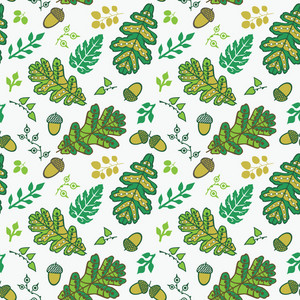 A Seamless Leaf Pattern.