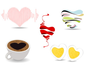 A Set Of Different Types Of Valentine Elements. Valentines Day.