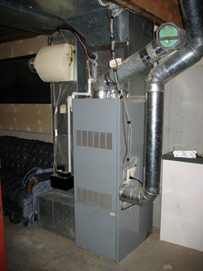A shot of a modern furnace: a great HVAC-related image.