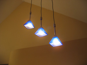 A trio of lights - contemporary interior lighting for the home.