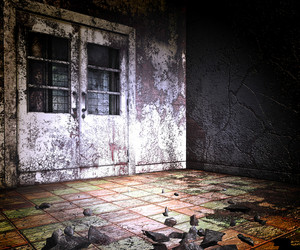 Abandoned Building Halloween Backgrounds
