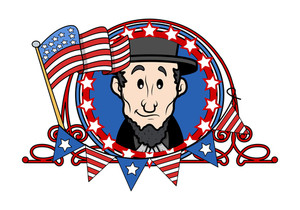 Abraham Lincoln Cratoon Vector Illustration