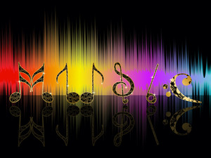 Abstarct Musical Note Background