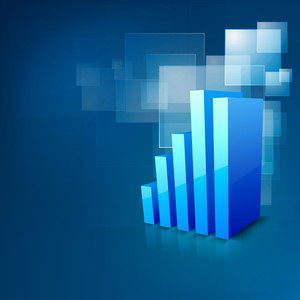 Abstract 3d Statistics Background