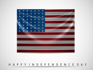 Abstract American Flag Background.