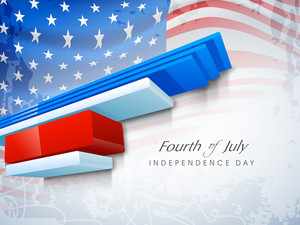 Abstract American Independence Background