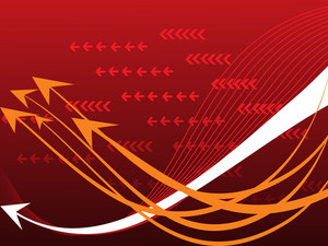 Abstract Arrow And Wave Background