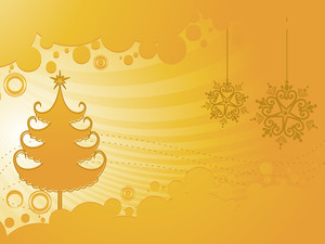 Abstract Artwork Background With Xmas Tree