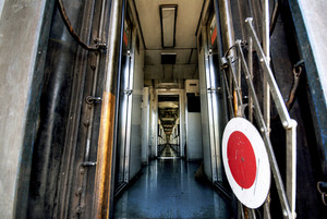 Abstract asia train