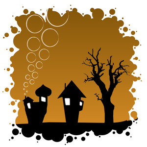 Abstract Autumn Background - Halloween Design