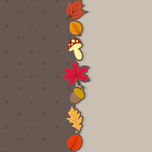 Abstract Autumn Season Concept With Maple Leaves