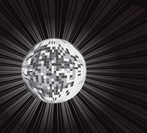 Abstract Background Disco Ball