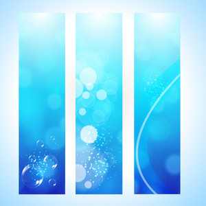 Abstract Background Hedder With Water Wave And Sun Light Vector Illustration Eps 10