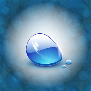 Abstract Background In Blue With Water Drop