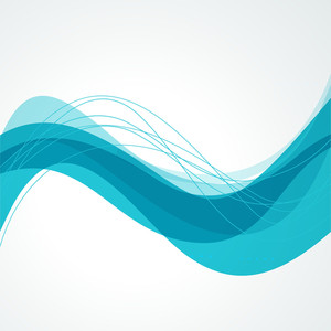 Abstract Background In Blue With Water Waves